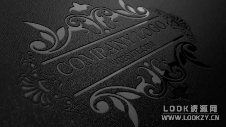 AE模板-商务浮雕卡片LOGO动画展示模板 Logo Mockup