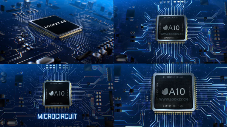 AE模板-微芯片CPU数字科技电路LOGO片头包装模板