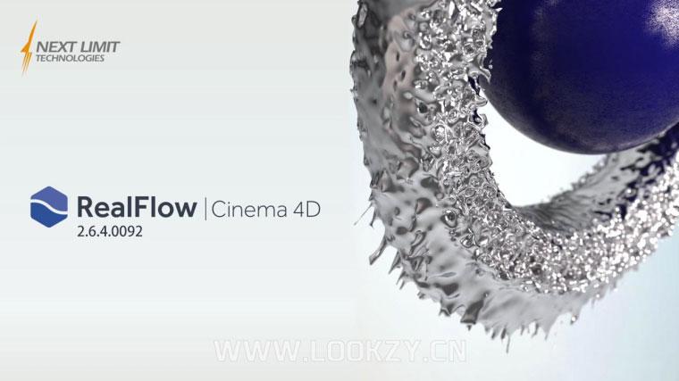 C4D插件-特效流体动力学模拟插件NextLimit RealFlow C4D 2.6.4.0092 WIN破解版