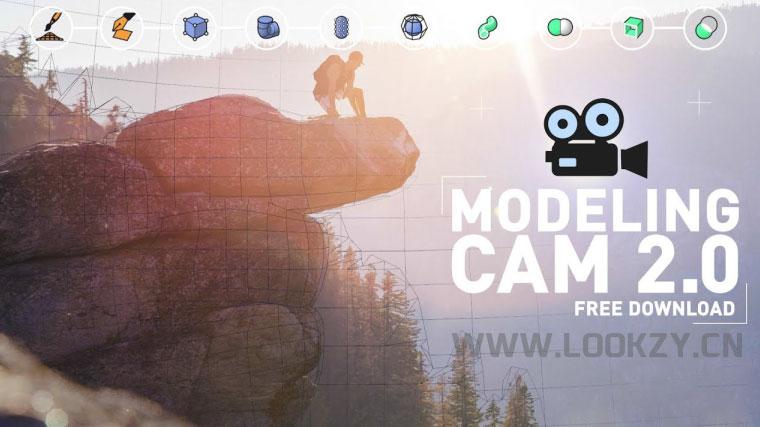 C4D插件-三维摄像机图片建模投射插件 Alphapixel MODELING CAM 2.0
