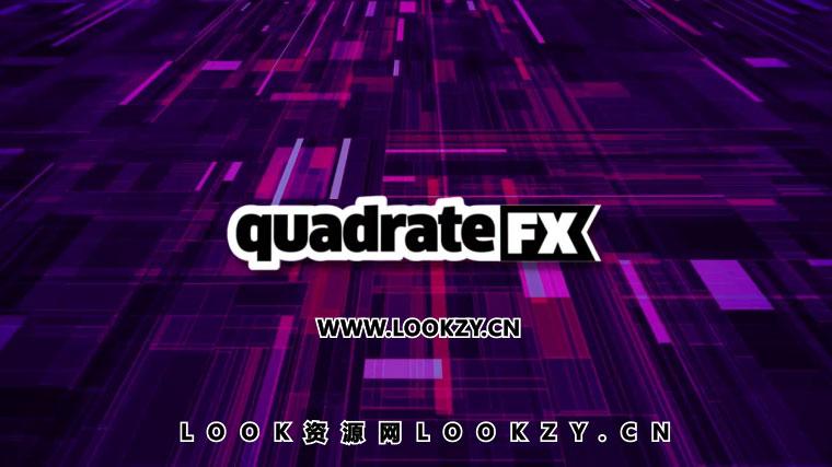 AE脚本-矩阵图形背景生成器Aescripts quadrateFX v1.0 Win/Mac