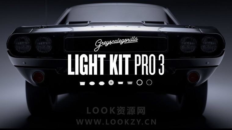 C4D预设-灰猩猩灯光插件预设GreyScaleGorilla Light Kit Pro v3 Win/Mac