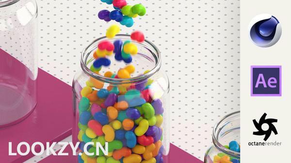 C4D教程-OC渲染器搭配C4D制作三维循环GIF动画效果教程