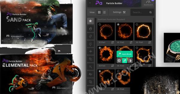 AE脚本-火焰烟雾魔法星尘粒子飘散消失特效工具包V2
