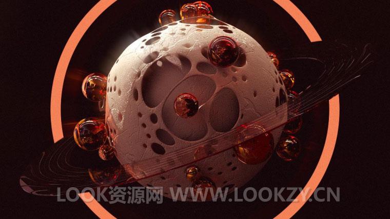 C4D教程-用XP粒子制作行星恐龙蛋场景教程下载