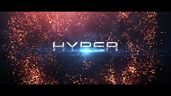 AE模板-电影金属火星粒子文字标题展示模板 Hyper Titles