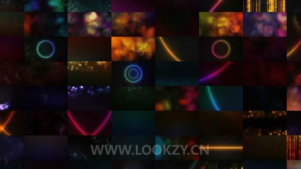 视频素材-120组4K时尚华丽粒子背景包装视频素材 Glamour