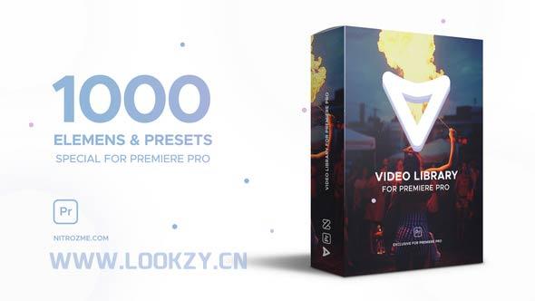 Pr模板-1000种视觉特效栏目包装动画PR工程模板