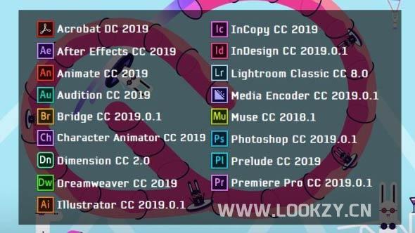 嬴政天下 Adobe CC 2019 Win 大师版v9.0合集  单独软件破解版
