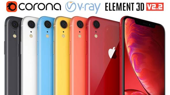 3D模型-iPhoneXR 和XS手机模型 (格式支持MAX/OBJ/E3D)