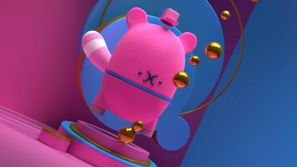 C4D教程-卡通玩偶建模Arnold渲染C4D视频教程下载