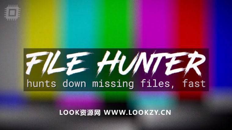 AE脚本-AE工程模板素材丢失文件自动查找脚本 File Hunter v1.0.3