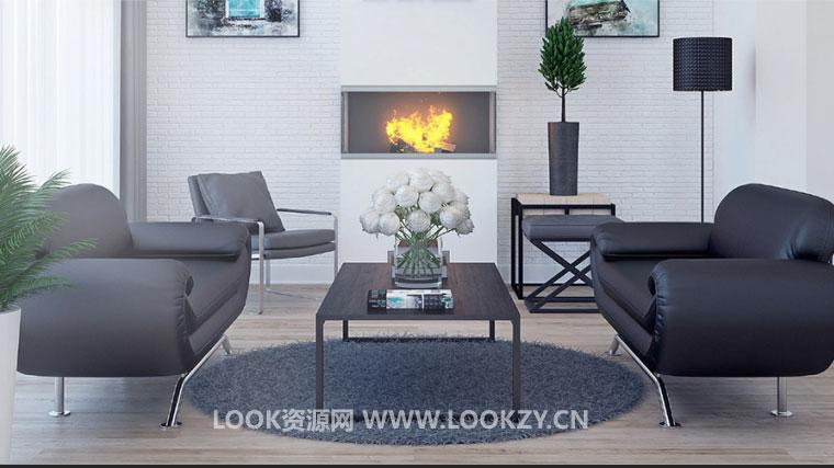 C4D模型-32套时尚家具椅子沙发桌子等模型合集