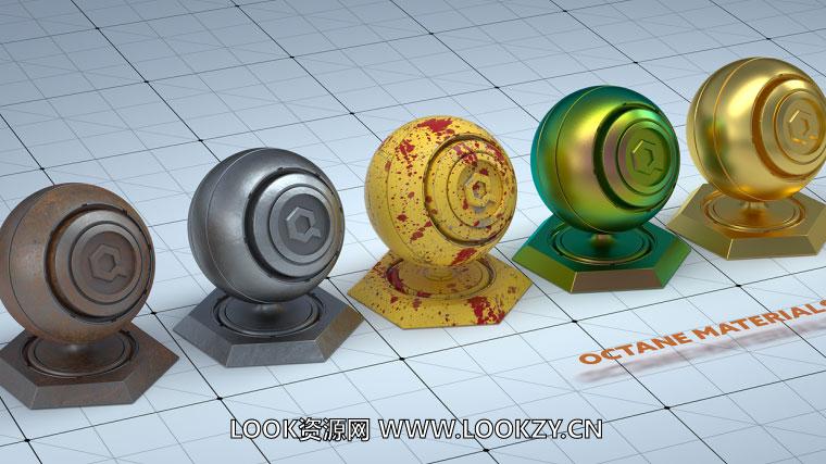 C4D材质工程-22个C4D OC渲染器材质合集 Octane Materials