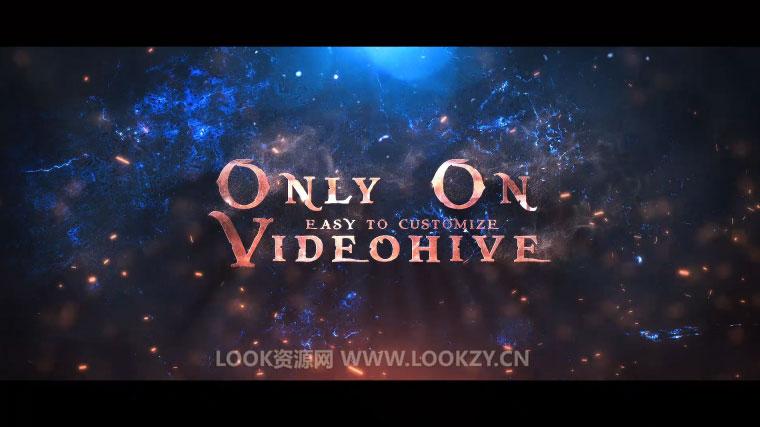 AE模板-大气电影预告宣传文字标题LOGO动画揭示模板