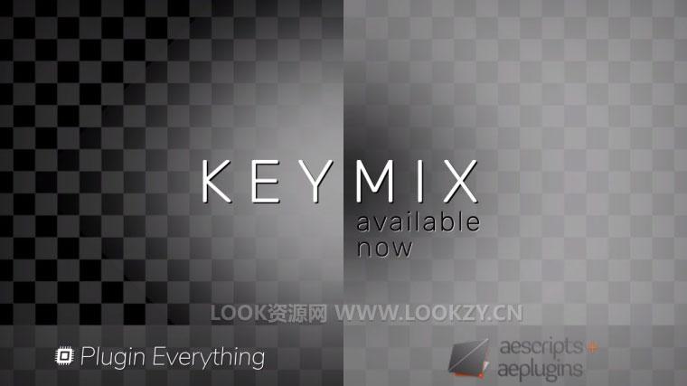 AE插件-视频抠像遮罩调节AE插件 Aescripts KeyMix V1.0 Win破解版