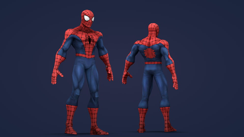 C4D模型-蜘蛛侠C4D模型包含材质骨骼绑定 SPIDERMAN models CINEMA 4D