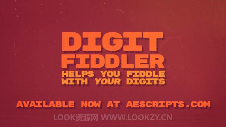 AE插件-时间数字百分比滚动动画插件 Aescripts Digit Fiddler V1.0 WIN/MAC破解版