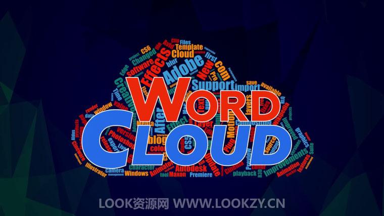 AE脚本-文字图形汇聚变换动画脚本 Aescripts Word Cloud v1.0.3 含使用教程