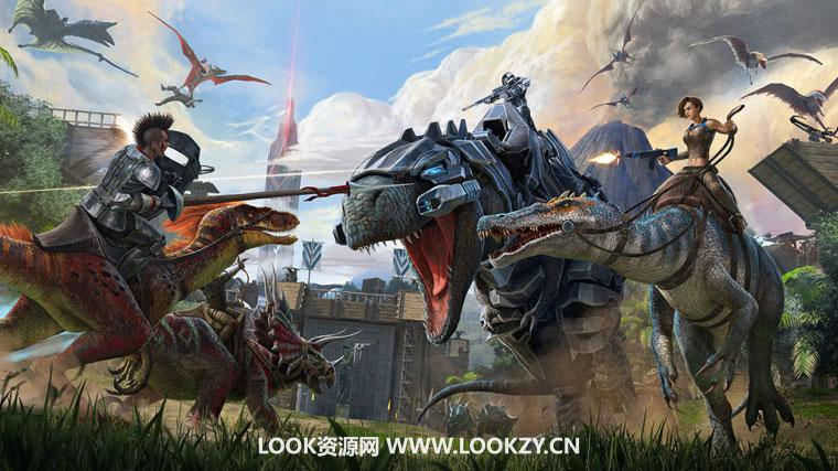 C4D模型-17套C4D恐龙生存游戏《方舟:生存进化》3D模型合集