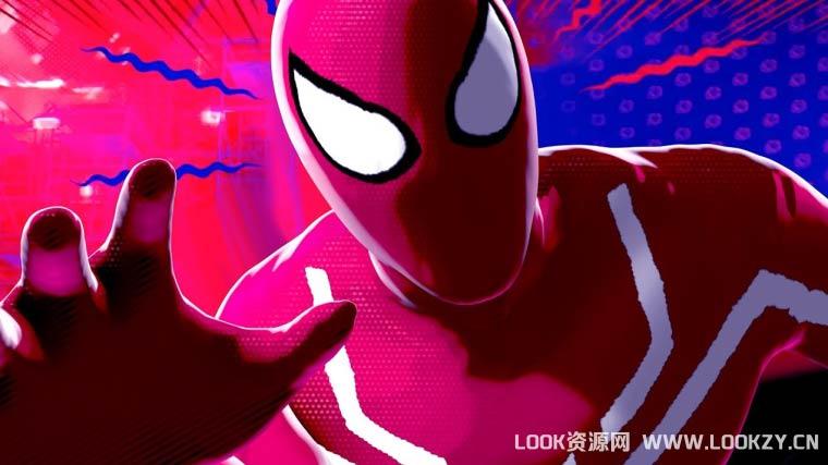 C4D教程-手绘卡通风格蜘蛛侠平行宇宙材质C4D教程
