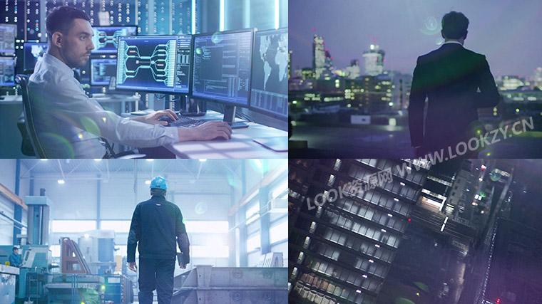 视频素材-110组蓝色逆光镜头光晕光效叠加4K视频素材资源