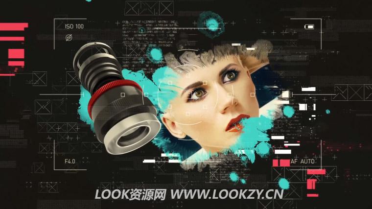 AE模板-时尚摄影镜头幻灯片开场模板 The Lens Slideshow 免费下载