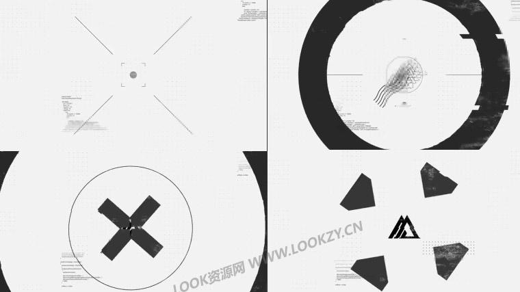 AE模板-黑白信号损坏故障LOGO片头动画模板 免费下载
