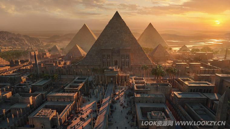 3D模型-古埃及金字塔3D模型 (格式支持:Maya/MAX/FBX/OBJ)