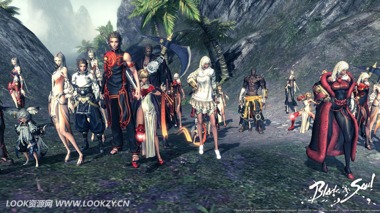 C4D模型-17套《剑灵(Blade and Soul)》游戏人物包C4D模型合集