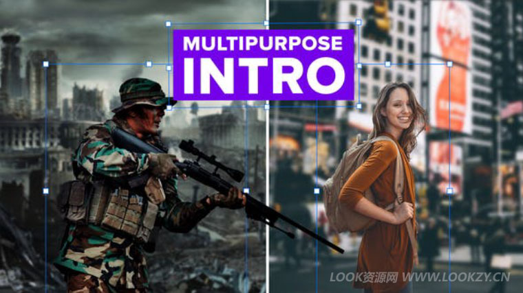 AE模板-三维分层军事体育聚焦介绍片头模板 Intro Multipurpose