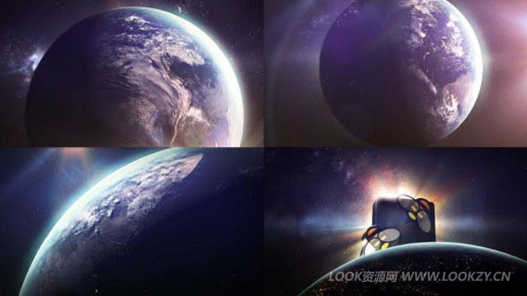AE模板-三维地球旋转LOGO片头开场动画模板 Earth Sun Logo