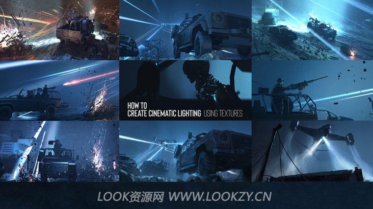 独立版Octane科幻战争场景动画贴图光线渲染教程