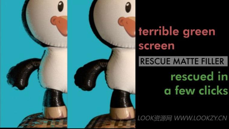 AE/PR插件-键控抠像细节还原修复插件 Rescue Matte Filler v1.1 Win/Mac