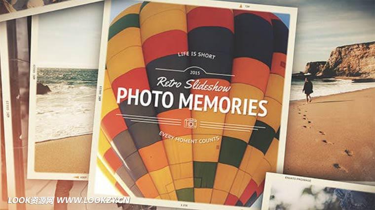 AE模板-回忆相册画廊电子相册照片展示片头模板