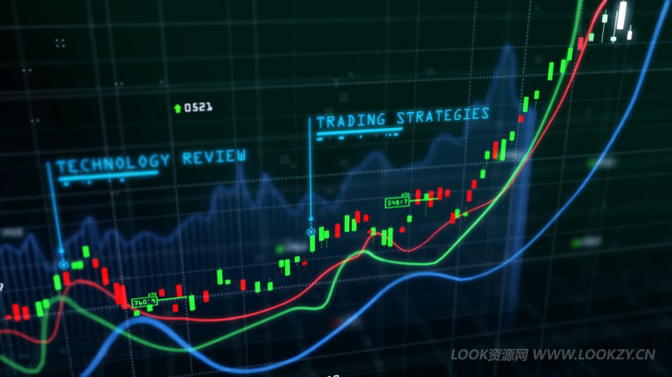 AE模板-股票数据交易曲线图表动画模板 Crypto Trading Channel