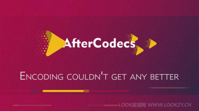 AE/PR/AME插件-特殊编码加速渲染输出插件 AfterCodecs v1.7.1 Win/Mac