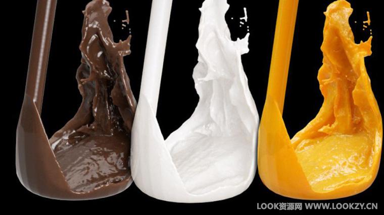 C4D材质工程-OC渲染器流体(牛奶/红酒/巧克力/橙汁材质)材质工程