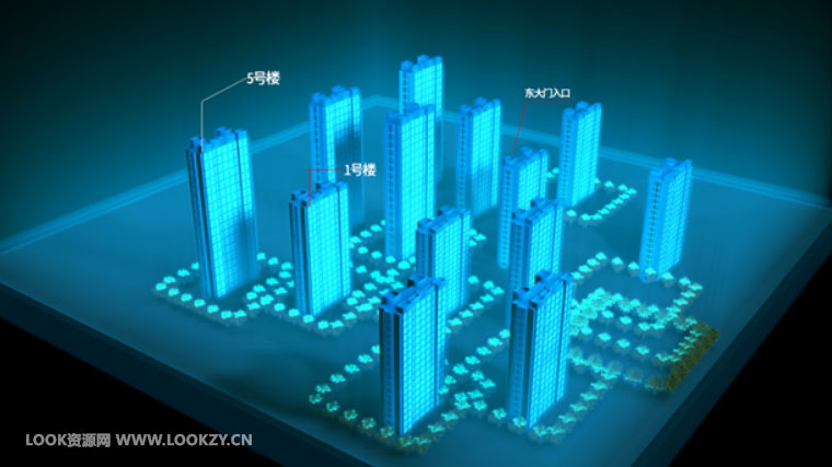 C4D工程-全息科技感未来城市VR虚拟现实包装模拟工程文件
