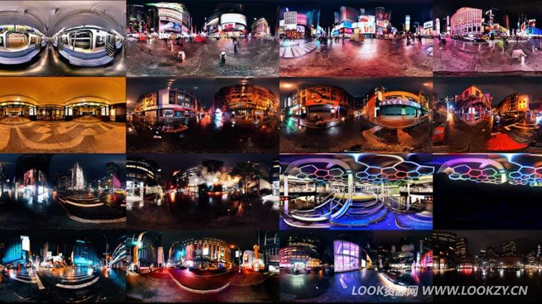 环境贴图-16组城市夜景高清HDRI环境贴图 Manhattan Nights