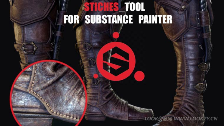 Substance Painter缝线插件 Flippednormals–Stiching Tool for Substance Painter