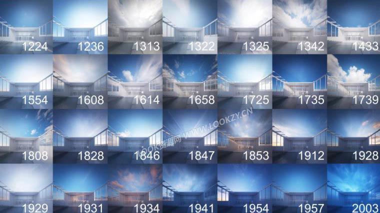 贴图素材-4.24G天空高动态范围全景HDRI图像合集