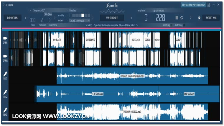 多机位自动对视频音频同步工具 Syncaila 2.1.0 Win/Mac破解版下载