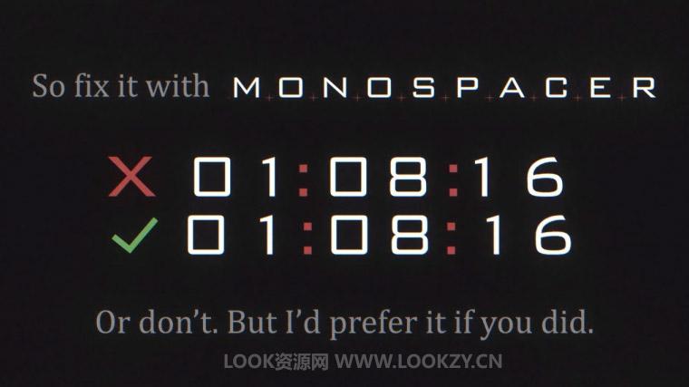 AE插件-解决字体变化跳动画面长宽不适配的问题 Monospacer v1.1.3