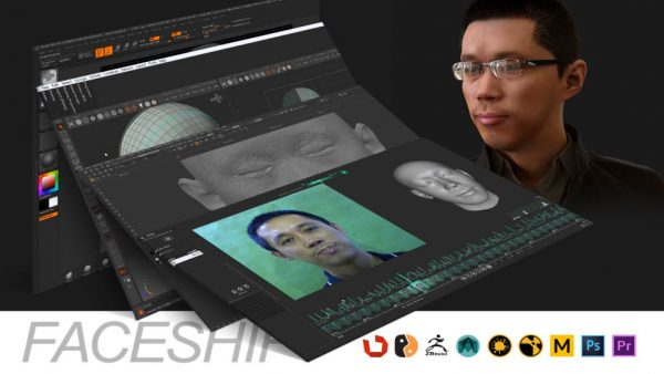 Faceshift角色面部表情捕捉全流程制作-【CG数字主播】正版授权