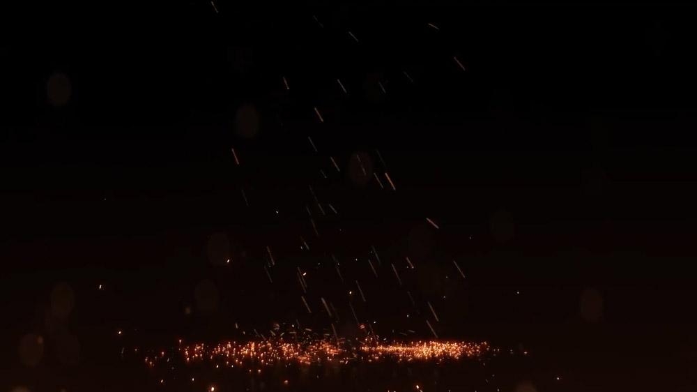 视频素材-7个火星粒子洒落特效动画4K视频素材