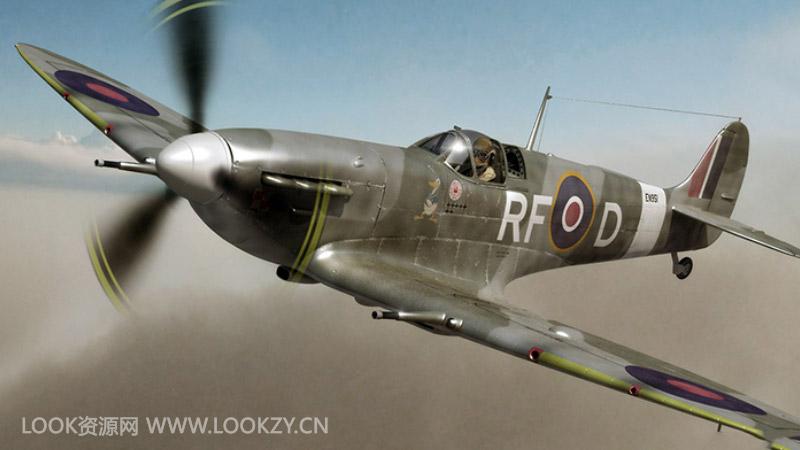 C4D模型-二战战斗机飞机C4D模型下载 含材质贴图