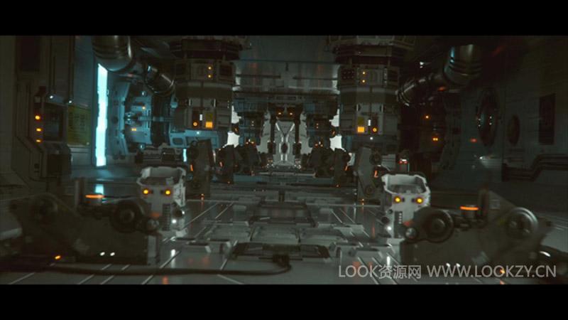 C4D工程-Octane渲染器科幻场景机械工程模型含动画
